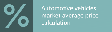 Determination of the average market value of cars, motorcycles, scooters
