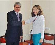 Микольська і Посол Аргентини